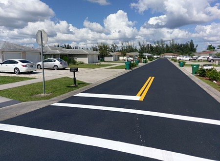 Asphalt paving services in Estero, Lee County